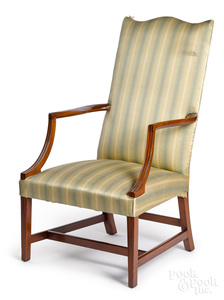 New England Federal mahogany lolling chair