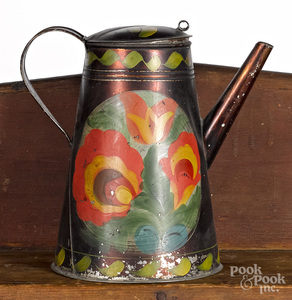 Toleware coffee pot