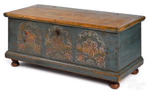 Pennsylvania Compass Artist pine dower chest