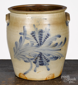 Pennsylvania five-gallon stoneware crock