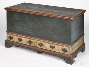 Pennsylvania painted poplar dower chest