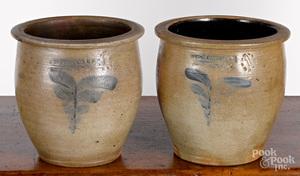 Two Pennsylvania 1 1/2 gallon stoneware crocks