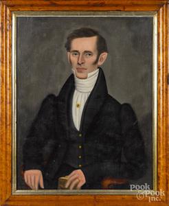 Erastus Salisbury Field oil on canvas portrait