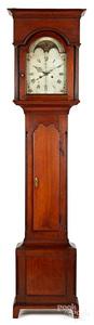 Pennsylvania Chippendale walnut tall case clock