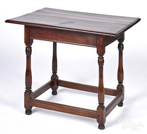 American William and Mary walnut tavern table