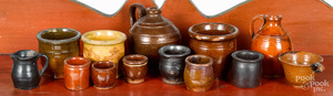 Collection of miniature stoneware vessels