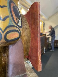 Northwest Coast Native American cedar totem pole