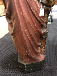 Carved Native American Indian cigar store figure