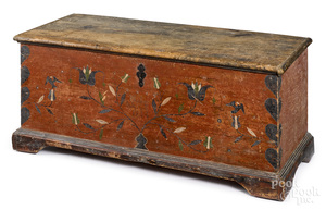 Pennsylvania painted pine dower chest