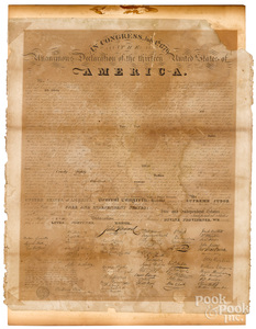 Declaration of Independence, printed 1818