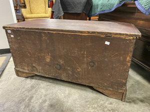 Berks County, PA painted pine dower chest