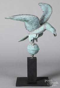 Copper spread winged eagle weathervane