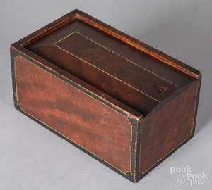 Painted poplar slide lid box