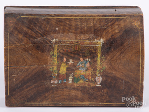 Painted dome lid box, 19th c.