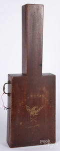 Stained poplar guitar case, 19th c.