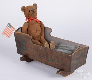Amish painted cradle