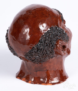 Redware figure of an African American mans head