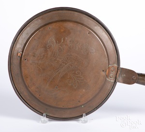 Copper bedwarmer, 19th c.