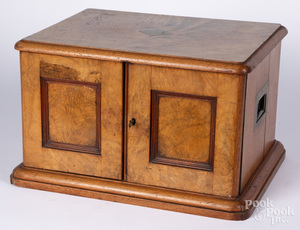 Mahogany silver chest, 19th c.