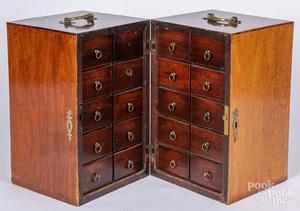 English mahogany apothecary cabinet