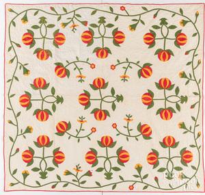 Appliqué quilt, late 19th c.