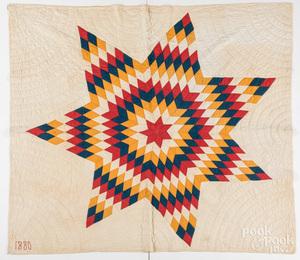 Star of Bethlehem quilt, dated 1880