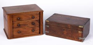 Rosewood donation box, 19th c.