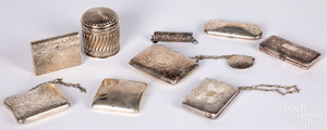 Sterling silver and plated dresser accessories