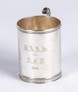 Boston sterling silver mug