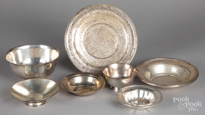 Sterling silver bowls and serving dishes, 46.5 oz