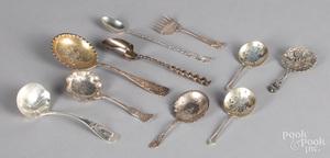 Sterling silver serving utensils, 15 ozt.
