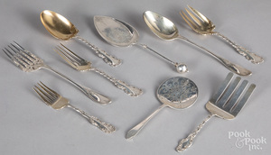 Sterling silver serving utensils, 27.8 ozt.