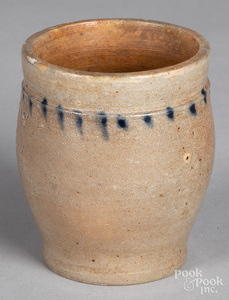 Miniature stoneware crock, 19th c.
