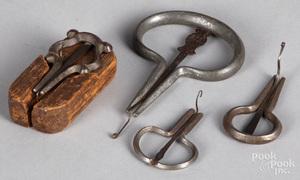 Four iron mouth harps