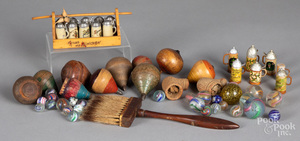 Group of toys, to include marbles, etc.