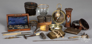 Group of early instruments and accessories