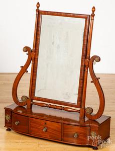 Classical mahogany dressing mirror, ca. 1830