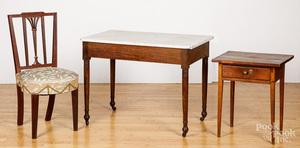 Sheraton mahogany marble top mixing table