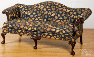Chippendale style carved mahogany sofa
