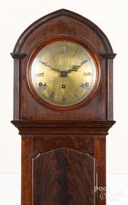 Mahogany tall case clock, early 20th c.