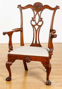 Philadelphia Chippendale walnut armchair