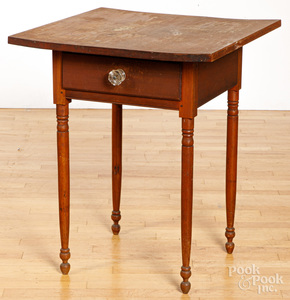 Sheraton cherry one-drawer stand, 19th c.