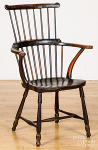 English Windsor armchair, ca. 1800.