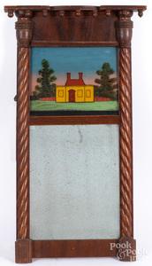 Two Sheraton mirrors, ca. 1830