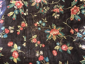 Pieced chintz quilt, dated 1804