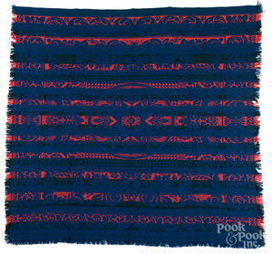 Two American coverlets, 19th c.