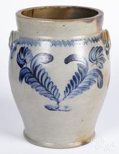 Pennsylvania Remmey stoneware crock, 19th c.