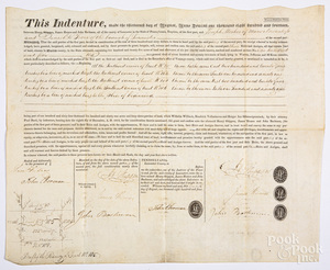 Two printed and hand written land indentures