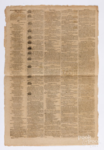 Columbian Sentinel newspaper, Boston, MA