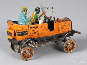 Marx tin lithograph Amos and Andy Taxicab